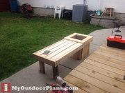 Building-a-bench-with-planter