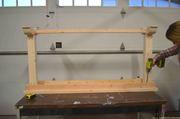 narrow sofa table assembled