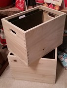 Wooden hanging file folder crates