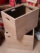 Wooden hanging file folder crates
