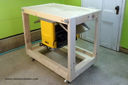 2x4 Flip Top Workbench Cart
