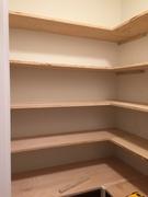 Custom Pantry Top Shelves