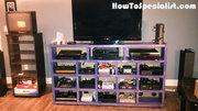 Video game console shelf