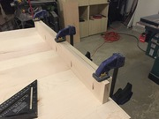 Attaching a skirt for a Parsons table