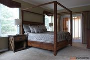 DIY King Size Canopy Bed Plans