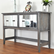 DIY Mirrored Console Table