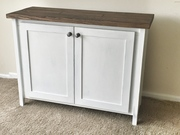 White Cabinet with 2 doors