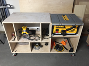 Workbench for Dewalt 745 Table Saw