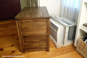 diy air conditioner dresser partially covered