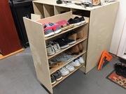 Sliding shoe cabinet