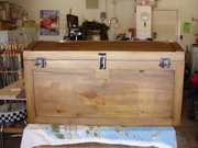 Arched top steamer trunk
