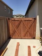 Fence Project in Backyard