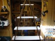 Ladder shelves.