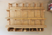 Wall-Mount Lumber Rack for Boards and Sheet Goods