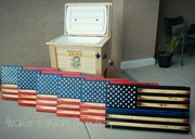 Ice Chest and Flags