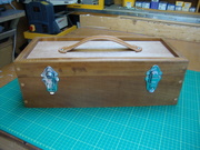 Toolbox for leather work tools.