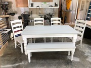 Farm Table/Bench/Chairs