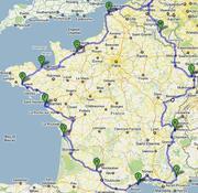 Route caravanvakantie 2010