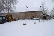 kou weg sneeuw terug