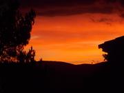 Wat een kado, zo'n mooie zonsondergang!