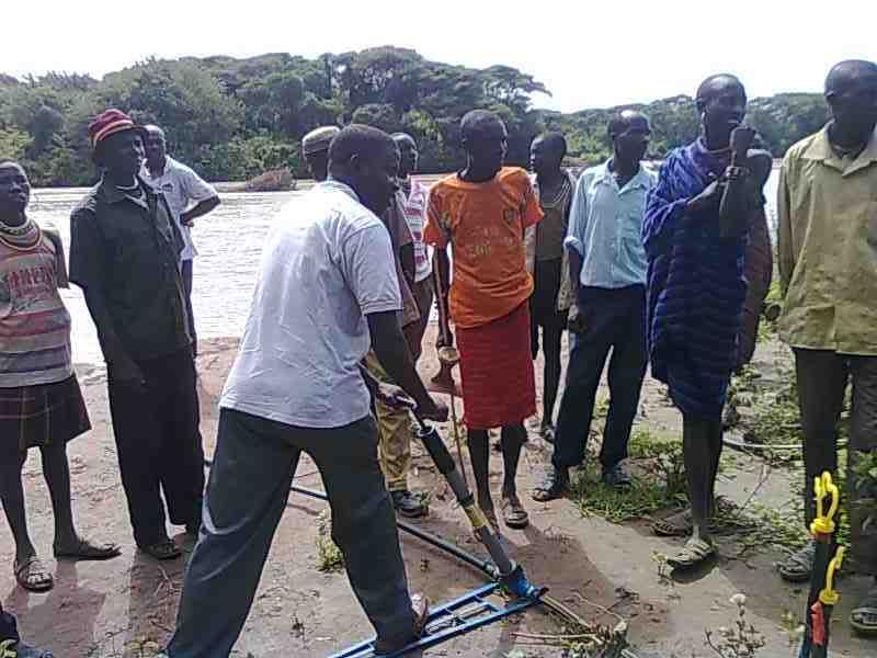 Reformed warriors on farm training session-Kenya