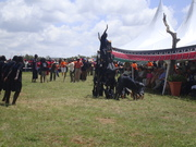 Pokot community youth acrobats perfom in various youth peace for sports. Kenya