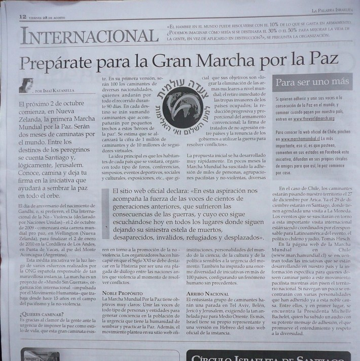Nota jornal israelita Chile