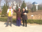1st South Korea trip- evnagelising at hilltop garden (1)