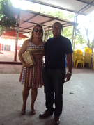 Eu com Antonia no almoço do pessoal da licitação da SINFRA em dezembro de 2013