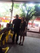 Eu com Maria Helena no almoço do pessoal da licitação da SINFRA em dezembro de 2013