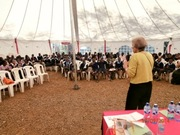 Hilary at StoryMoja, Kenya, 2014