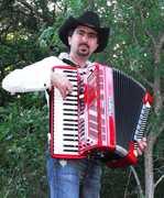 Chris Rybak playing the Roland accordion