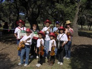 The MECCA fiddlers & cloggers at the pickin the Park at Zilker Park in Austin, Texas in Oct 2010.