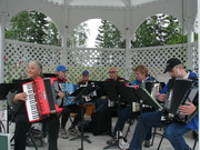 Accordion Ensemble Performes at Pioneer Park