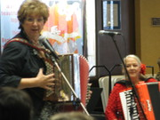 Peggy and Shelia Performing for Lunch Bites Concert