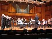 Mr Harper Conducts Combined Brass and Accordion ensemble