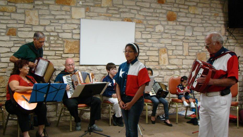Central Texas Accordion Association meeting Aug  2012