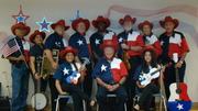 MECATX musical ensemble at a 4th of July celebration