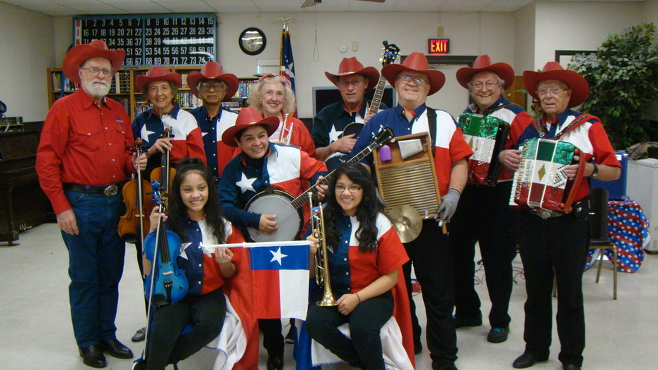 mecatx senior citizens band and Texas Fiddlers & Cloggers played at a Texas Independence Day celebration at the Bob Gilmore Senior Center in Killeen, Texas on March 2, 2015