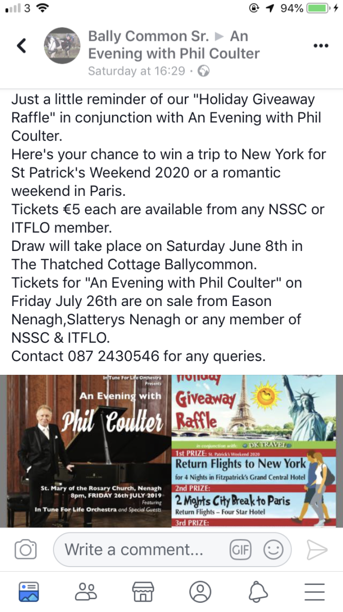 """Phil Coulter joined by """"In Tune for Life Orchestra"""""""