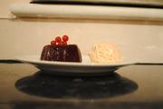 Blackberry Jelly with Plum Ice Cream