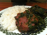 Baby Spinach Curry with Lamb
