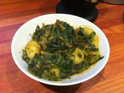 Baby Spinach Curry with Potatos