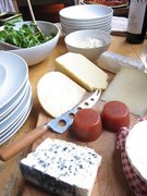 Cheese board with home made membrillo