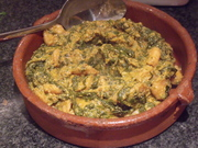 Sundried Tomato, Spinach, Egusi Prawns
