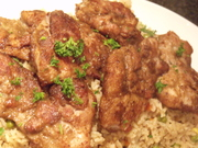 Pan Fried Suya Chicken Thighs