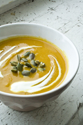 Pumpkin soup. Vegan.