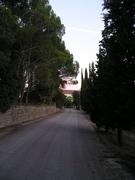 carretera de entrada al casl de la Salle