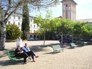 conchita luis y julia en patio Casal Salle