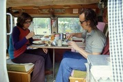 Brett & EP having breakfast